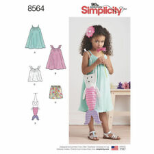 Simplicity Sewing Pattern 8564 Girls Child's 3-8 Dress Top Shorts Novelty Bag