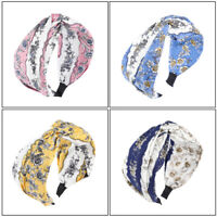Boho Girl's Floral Hairband Headband Knot Wide Alice Hair Hoop Band Accessories