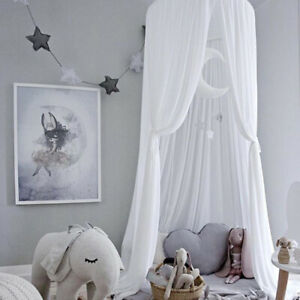 Girls Decorative Bed Canopy Round Dome Nursery Room Cotton Canopy Tent 94.5in