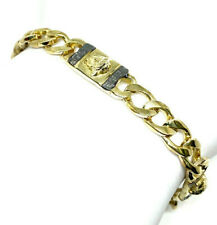 14K Yellow Gold Filled Versace Style CURB Link Heavy Mens Bracelet-9""