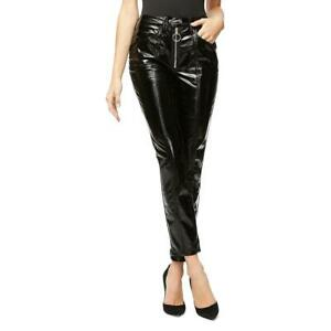 Good American Womens Straight Pleather Patent Ankle Pants BHFO 9900