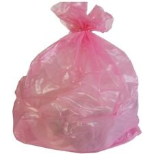 PlasticMill 12-16 Gallon, Pink, 1 MIL, 24x31, 250 Bags/Case, Garbage Bags.