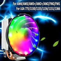 LED 4 pin CPU Cooler Fan Heatsink Core For Intel Socket LGA 1156/1155 / 775 AMD