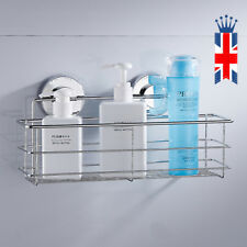 Non Rust Stainless Steel Bath Shower Suction Basket Caddy Bathroom Storage Tidy