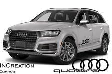 Audi Q7 Q9 Quattro Factory Style Door Vinyl Stickers Decals, Racing Emblem Logos