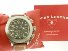 Mens Swiss Legend Militaire Chronograph