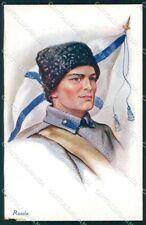 WW1 WWI Propaganda Russian Soldier Russia ABRADED cartolina XF6698