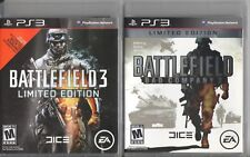 Video Game Lot - BATTLEFIELD 2-PACK - 3 LE / Bad Company 2 - Sony PlayStation 3