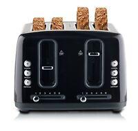 Sunbeam TA6344K Simply Stylish 4 Slice Toaster with Defrost & Reheat - Black