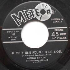 *MICHELE RICHARD (15 ans) Le P'tit Renne au nez rouge CANADA QUEBEC 1962 45