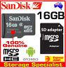 SanDisk Genuine micro SD 16GB SDHC class 4,SD adapter, 16G memory card TAX Inv