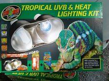 New listing Zoo Med Tropical Uvb & Heat Lighting Kit