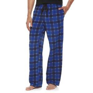 NEW Men's Patterned Microfleece Lounge Pajama Pants - Size Options