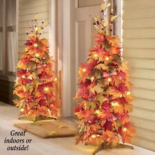 Lighted Collapsible Berries & Ribbon Thanksgiving Harvest Indoor/Outdoor Tree
