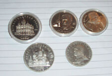 Russia 5 large commemorative attractive coins Moscow etc