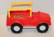 Fisher Price Little People Animal Sounds Red Safari Truck Only