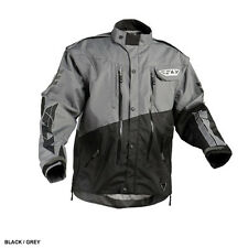 Fly Racing Patrol MX BMX motorcycle jacket adult men S small gray black 366-680S
