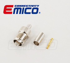 TNC Female Crimp for RG-58, Nickel (EM-TC0005-RG58)