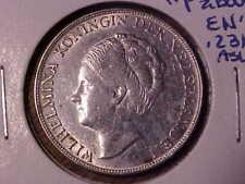1944 Netherlands Silver  1 Gulden AU Details KM#161.2