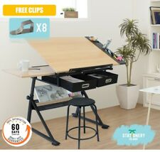 Stationery Island Adjustable Drafting Drawing Table W/Stool Craft Table Foula