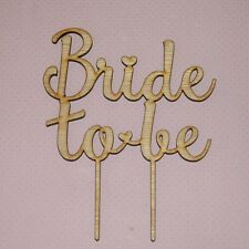 Bride to be Cake Topper, Bridal shower, Hens Party, cake decor engagement D1