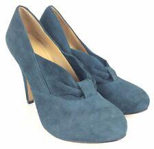 Nine West 6 M Womens Pumps Heels Blue Suede Leather Stiletto Platform Verbenia