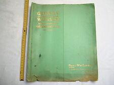 Katalog , Gustav Wünsch Werkzeugfabrik Geringswalde , ca. 30er Jahre