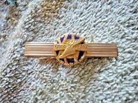GOODYEAR XV Winged Foot Ansen Tie Clasp 12K G.F./ 1/10 10K
