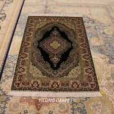 Yilong 3'x4.5' Handmade Silk Home Rug Classic Traditional Durable Carpet 0610