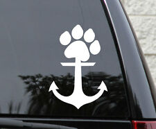 Anchor Paw Dog Cat Pet Sticker Decal Car Laptop Phone