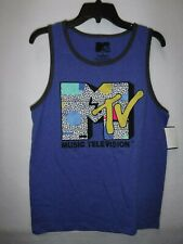 MENS SIZE SMALL MTV MUSIC TELEVISION ROYAL BLUE TANK SHIRT NWT NEW #14235