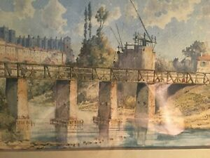Beautiful French Village Watercolor, Signed & Dated L. Ricard (1861-1940), MB83