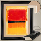 """32W""""x40H"""": ORANGE YELLOW WHITE RED by MARK ROTHKO DOUBLE MATTE, GLASS and FRAME"""