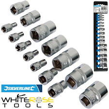 "Silverline External Torx Sockets Set Extension E4-E24 1/4"" 3/8"" 1/2"" Drive 14pc"