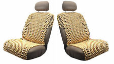 Pair of Natural color Full Wooden Bead Seat covers Cushion.