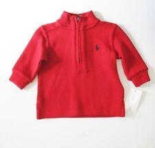 Ralph Lauren Baby Boys Half Zip Sweater Martin Red Sz 9M - NWT