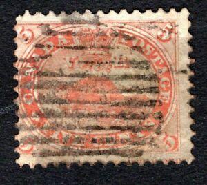 Canada 1859 Beaver #15 used 5c Vermillion, cv $37.50