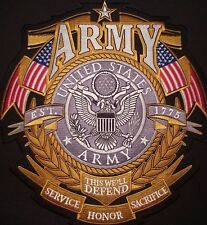 US ARMY LARGE Back Patch CUSTOM Military / Biker patch US / Vet Seller 5pc Lot