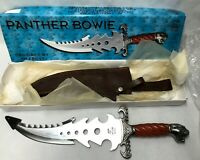 "Jim Frost Cutlery PANTHER BOWIE KNIFE 20"" Overall Length Wood Handle in Box"