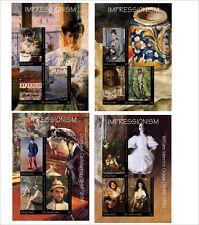 2018 IMPRESSIONISM paintings art CEZANNE CAILLEBOTTE 4 SOUVENIR/S UNPERFORATED