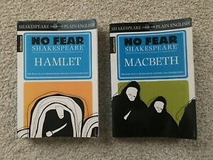 MACBETH and HAMLET [NO FEAR SHAKESPEARE] by Sparknotes - 2 books