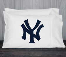 New York, Yankees, Pillowcase, Standard, Queen Size, Microfiber, White,