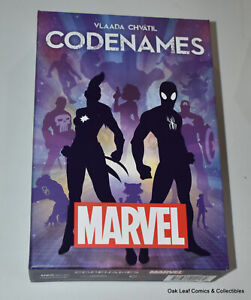 Marvel Comics CodeNames USAopoly Deduction Board Game Vlaada Chvatil Complete!