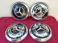 Set of 4 Vintage Mercedes Benz Pagoda Distressed Hubcap Wheel Covers 1960-1979