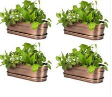 H Potter Gar565S4 Planter Large Plant Container Indoor Outdoor Metal Garden Pot