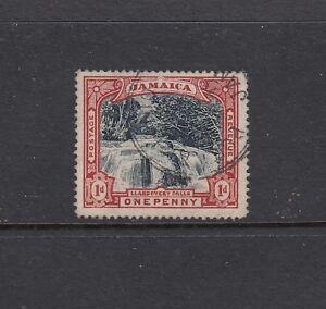 "JAMAICA: 1900-01 1d Slate-black & Red Waterfalls ""BLUED PAPER"" SG 32a £100, VFU."