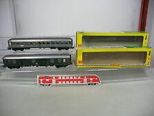 AK674-0,5# 2x Fleischmann H0/DC Personen-/Gepäckwagen: AB4nb+106096 Esn/Pw4üm DB