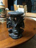 DRAGON BLACK PORCELAIN CANDEL HOLDER