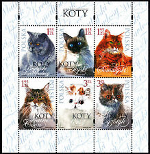 Poland 2010 Cats, Minisheet Stamps