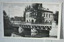 15633 AK Bruck a. d. Leitha Niederdonau Brücke und Hotel Feldpost 22.5.1941